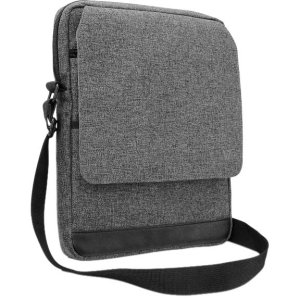 V7 TD31GRY-1N Carrying Case (Messenger) for 10.134; Tablet, iPad, iPad Air, iPad mini - Charcoal Gray - Scratch Resistant Interior, Stain Resistant - Polyester, Polyurethane - TD31GRY-1N