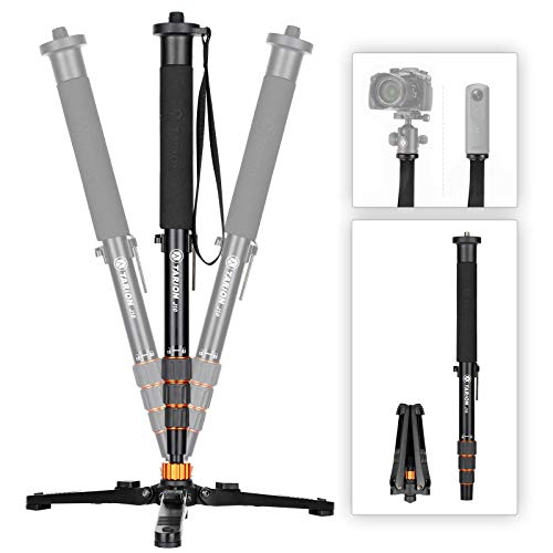 TARION Monopod for Cameras DSLR Video Monopod with Feets Porfessional Monopod Stand with Tripod Base for Sports Lamdscape Wildlife Travel Photography Videograpghy Vlogging