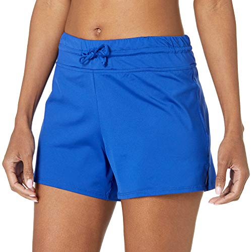 24th & Ocean Women's Board Swim Short Bikini Swimsuit Bottom, Cobalt, XXL