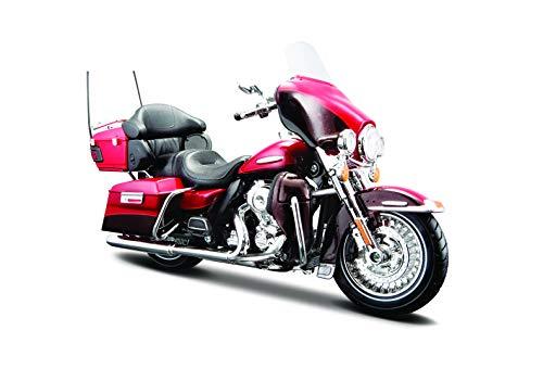 Maisto Harley-Davidson FLHTK Electra Glide Ultra Limited ´13: Motorradmodell 1:12, mit Lenkung, beweglichem Ständer und frei rollenden Rädern, 17 cm, rot (532323)