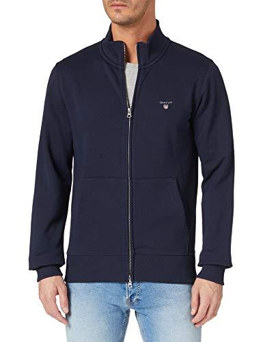 GANT Herren ORIGINAL Full Zip Cardigan Sweatshirt, Evening Blue, M