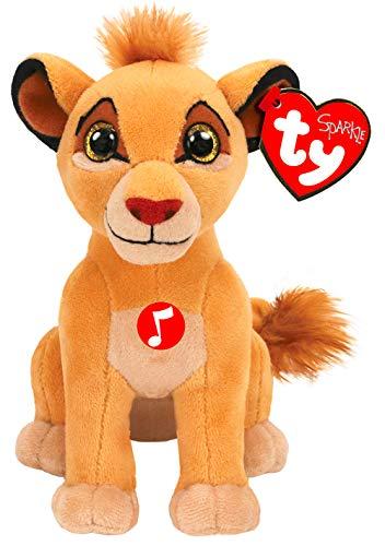 Ty Roi - Peluche musicale Simba, 15 cm, TY41088, multicolore