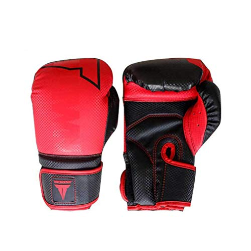 Professionelle Boxhandschuhe Gym Club Training Boxhandschuhe Training Training Kickboxen Boxen Supplies for Fighting Taekwondo Kampf Kampf Sanda Handschuhe,Rot,6oz