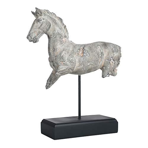 TOOARTS Scultura di Cavallo incompleta Imita Scultura su Pietra Scultura in Resina Artigianato soprammobili Moderni Oggettistica per La Casa Moderna Animale Decorazioni