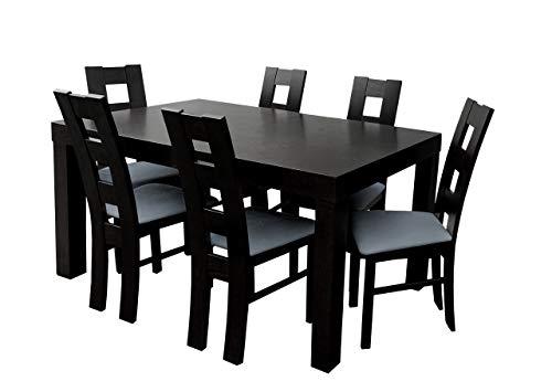 Mirjan24 Esstisch Stuhl Set RB46 Essgruppe, Tischgruppe, Sitzgruppe Esstischgruppe, Esszimmergarnitur (Wenge, Granada 2725)