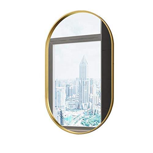 Moderne ronde ronde ronde wandspiegel decoratieve gouden badkamer wastafel make-up spiegel voor woonkamer, 27,5 inch in hoogte