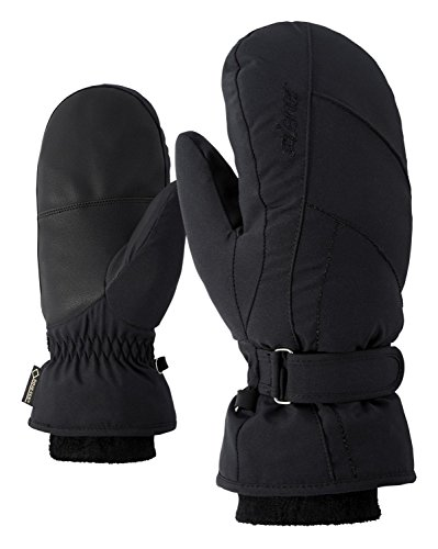 Ziener Damen KARMANI GTX Gore plus warm MITTEN lady glove Ski-handschuhe / Wintersport | wasserdicht, atmungsaktiv, sehr warm, schwarz (black), 7.5