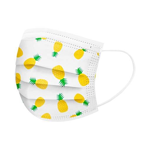 MOTOCO Kinder 30/40/100 Pcs Face Cover Mund-und-Nasenschutz Atmungsaktiv Bandanas Sonnenschutz Outdoor Essentials für Schule(B40)