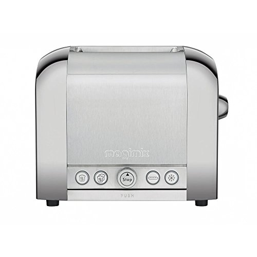 Magimix Le Toaster 2Scheiben brossé-brillant MAGIMIX das Toaster 2Scheiben brossé-brillant Toaster Glänzend/gebürstet