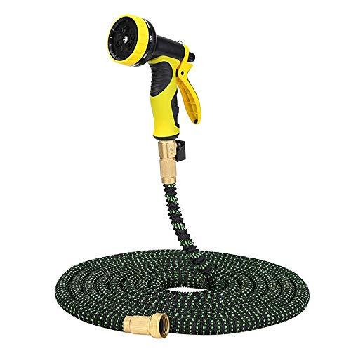 25FT-100FT Tuinslang Expandable Magic Rubber Flexible Water Plastic Slangen Pipe Spuitpistool Outdoor Garden Telescopische Water Pipe - Geel (Size : 25ft)