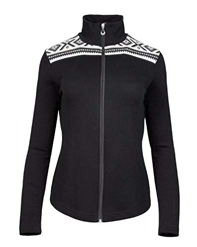 Dale of Norway Damen Cortina Basic Feminine Jacke, schwarz/weiß, XS