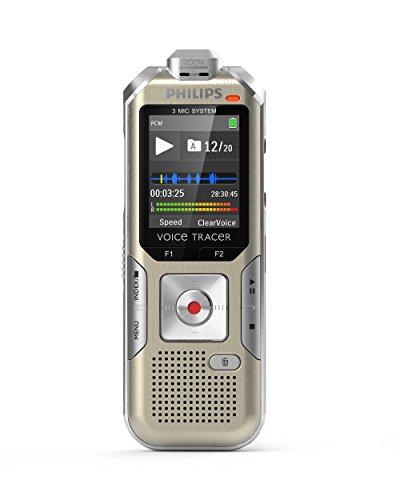 Philips dvt6510/00Voice Tracer 8GB per registrare Musica Champagne