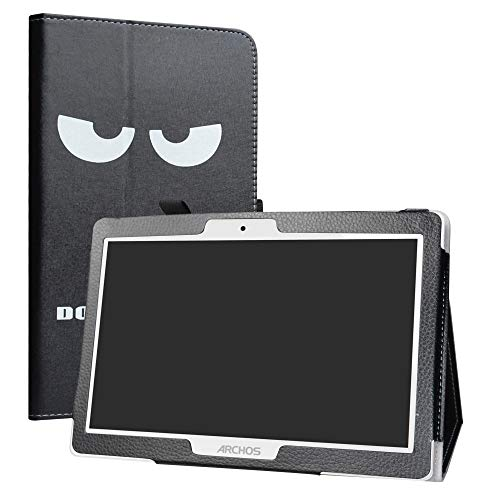 Archos 101 Oxygen Funda,LiuShan Folio Soporte PU Cuero con Funda Caso para 10.1' Archos 101 Oxygen 4G Android Tablet,Don't Touch