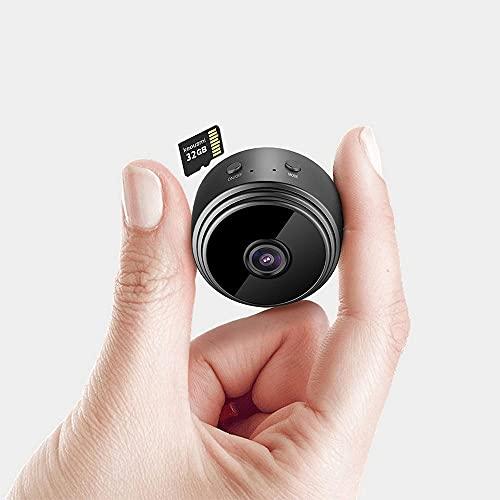 Mini cámara oculta, HD 1080P, cámara Spia, portátil, Micro Spy Cam, vigilancia con sensor de movimiento, visión nocturna, sin cables, microcámaras para interior/exterior, tarjeta de memoria 32 G