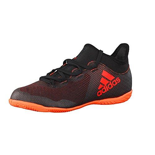 adidas Unisex-Erwachsene X Tango 17.3 IN JR CG3724 Sneaker, Mehrfarbig (Core Black/Solar Red/Solar Orange), 35.5 EU