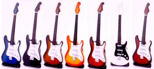 Miniatur E-Gitarre kleine Elektro Giratte 24 cm Handguitar Musikinstrument Mini Deko Gitarre Guitar (frabe wählbar oder Zufall)