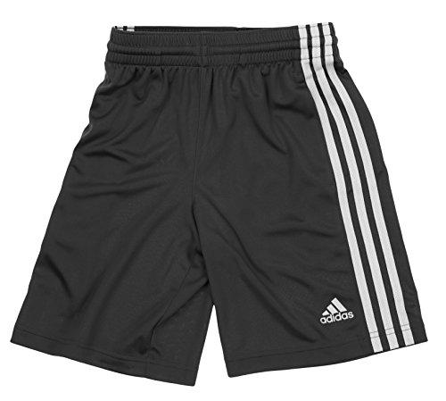adidas Big Boys Youth Performance Climalite Shorts, Large (14/16) Dark Grey-White