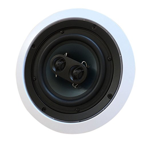 652S2C Silver Ticket in-Wall in-Ceiling Speaker with Pivoting Tweeter (2 Channel Stereo 6.5 Inch in-Ceiling) 9.4 inch Overall Size