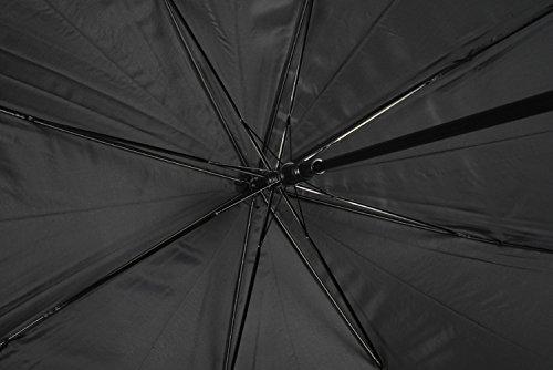 『アテイン 紳士用ジャンプ傘 親骨65cm 黒 3224』の5枚目の画像