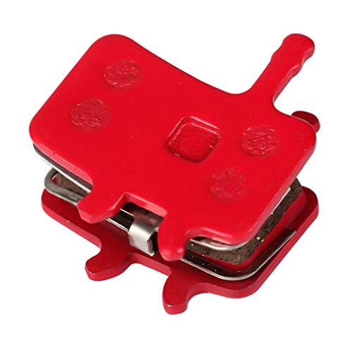 WEQQ (P197BP) Pastillas de Freno de Disco de cerámica Pastillas de Freno de Disco para Sram Avid MTB (Rojo)