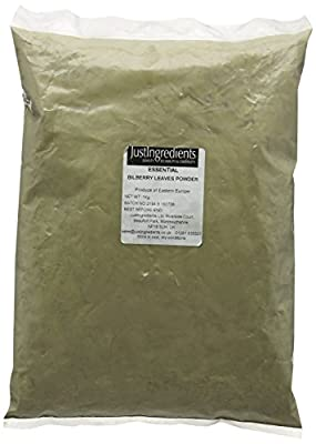 JustIngredients Essential Bilberry Leaves Powder 1 Kg