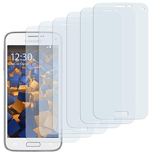 mumbi Schutzfolie kompatibel mit Samsung Galaxy S5 Mini Folie klar, Displayschutzfolie (6X)