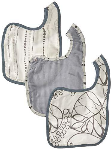 aden + anais silky soft snap bib 3 pack, moonlight