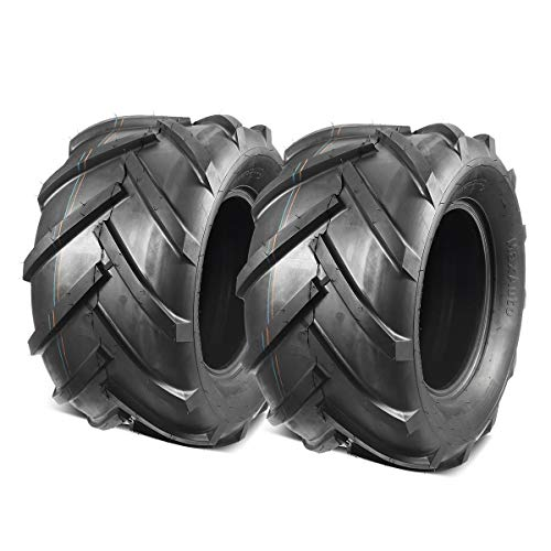 MaxAuto 2 Pcs Super Lug 24x12.00-12 24X12.00X12 Lawn Tractor Tires Very Wide 6 Ply Rated