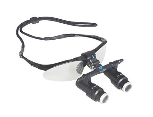 APHRODITE 高倍率拡大鏡 メガネ式 双眼ルーペ 瞳孔間距離調整可能 FD-501K (操作距離330MM, 6.5倍)