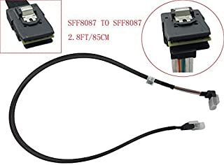 (2.3FT 90 Degree Front Angle) Mini SAS SFF-8087 to Mini SAS SFF-8087 Cable for