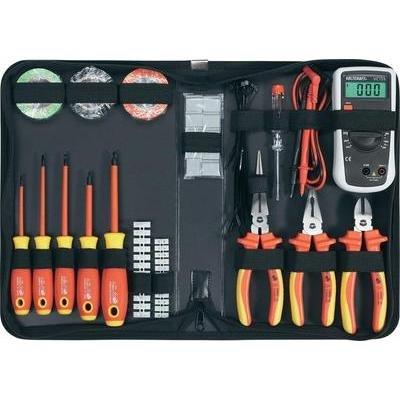 TOOLCRAFTCaisse à outils d'électricien VDE, 50 pcs Set d'outils 820916