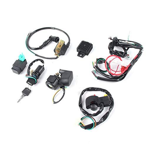 Heaviesk Motorrad CDI Kabelbaum Zündung Magnetspule Gleichrichter für 50cc-125cc Pit Quad Dirt Bike ATV