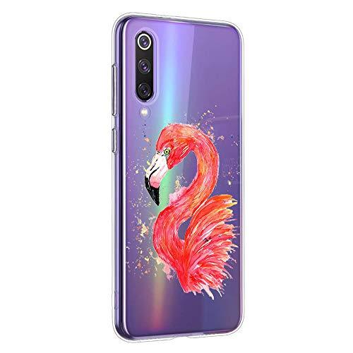 Oihxse Compatible con Xiaomi Redmi Note 5 Pro/Note 5 Funda Suave Gel TPU Silicona Cristal Transparente Carcasa Acuarela Animal Pintado Patrón Protectora Estuche Bumper Caso Case (B3)