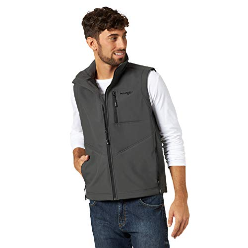 Wrangler Men's Concealed Carry Stretch Trail Vest, Charcoal, 2XT
