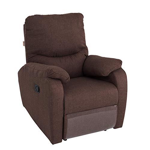 ESTEXO RTV Relax- und TV-Sessel mit Fußstütze Dunkelbraun