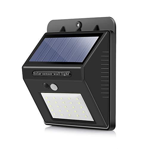 Lámparas solares para exteriores, UNISOPH, para exteriores, con sensor de movimiento, 25 ledes, 1200 mA, luz solar para exterior, 1 unidad