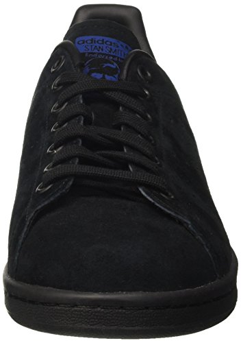 adidas Originals Stan Smith, Zapatillas Unisex Adulto, Negro Core Black Core Black Collegiate Royal, 39 1/3 EU