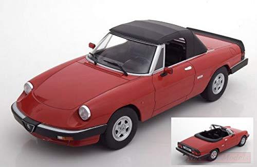 KK Scale KKDC180191 Alfa Romeo Duetto Spider 3a Serie 1986 Red 1:18 Die Cast Compatibile con