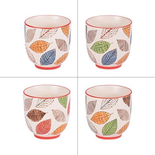 Table Passion - Coffret de 4 gobelets à thé 15 cl forest