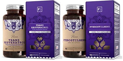FS Trans Resveratrolo [150 mg], Estratto Di Polifenoli Da Polygonum Cuspidatum | 60 Capsule Vegane | ALTA POTENZA | Integratore naturale e Potente Antiossidante — Senza OGM, glutine e latticini