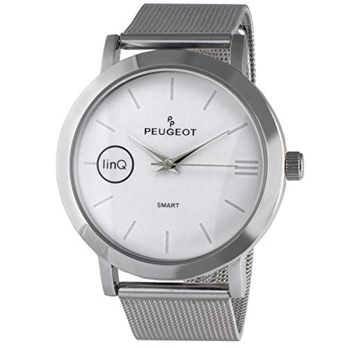 Peugeot linQ Stainless Steel Mesh Bluetooth Smart Connected to Mobile Phone Watch