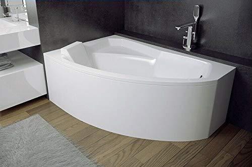 BADLAND Eckbadewanne Badewanne Rima RECHTS 150x95 mit Ablaufgarnitur und Füßen GRATIS + ohne/mit Verkleidung Styropor (mit Styropor)