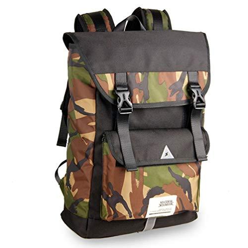 Sac à dos décontracté pour homme, résistant à l'eau, randonnée, camping, voyage, école, livre, sac à dos avec cordon de serrage, convient pour ordinateur portable de 14\