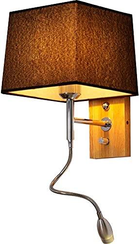 Lámparas de Pared contemporáneas, Luces de Pared para Dormitorio, lámpara de Ajuste de cabecera, Sala de Estar, lámpara de Lectura, Pantalla de Tela, Foco de Pared, lámpara LED con Brazo basculante