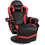 Goplus Massage Gaming Chair, Racing Style Gaming Recliner w/Adjustable Backrest and Footrest,...