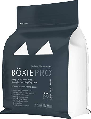Boxiecat Deep Clean, Scent Free, Probiotic Clumping Litter, 28 lb
