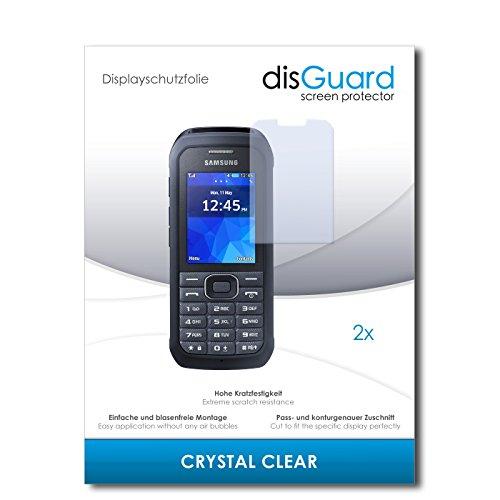 disGuard® Bildschirmschutzfolie [Crystal Clear] kompatibel mit Samsung Xcover 550 [2 Stück] Kristallklar, Transparent, Unsichtbar, Extrem Kratzfest, Anti-Fingerabdruck - Panzerglas Folie, Schutzfolie