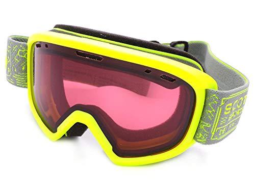 Scott Jr Witty 260579 Lunettes de Ski pour Enfant Jaune Vert 5-10 Ans