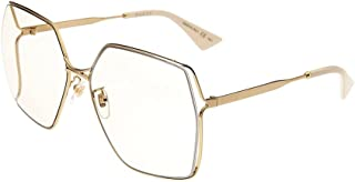 Sungl Gucci GG0817S 005 sungl Woman color Gold yellow lens size 65 mm