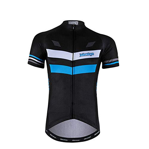 AZUOYI Men's Cycling Jersey Short Sleeve Bike Shirts for Men Bicycle Jacket with Pockets Breathable & Quick Dry,XXL